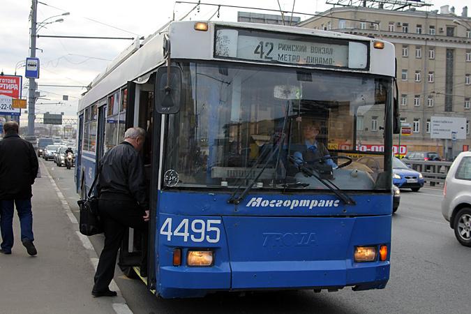 В Москве проезд в наземном